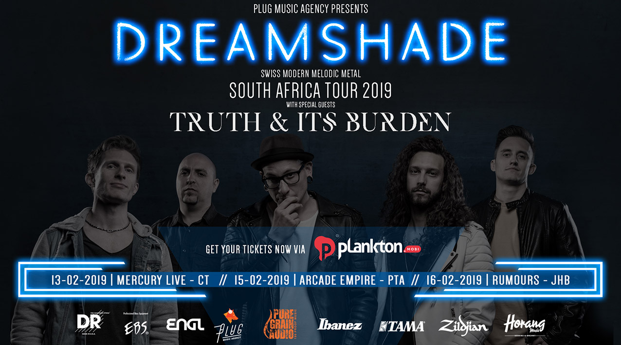 Truth & Its Burden to support Dreamshade South African tour in 2019